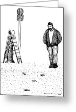 Lonely Man Greeting Card by Karl Addison