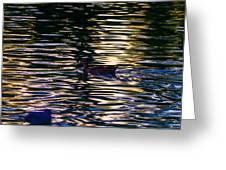 Lonely Swim Greeting Card by Joshua Dwyer