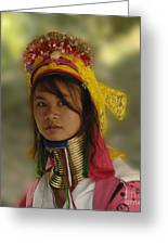 Long Neck Beauty Karen Tribe Greeting Card by Bob Christopher