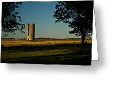 Lonly Silo 5 Greeting Card by Douglas Barnett