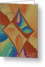 Look Behind The Brick Wall Greeting Card by Deborah Benoit