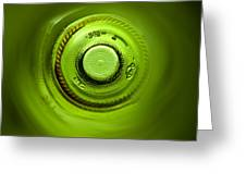 Looking Deep Into The Bottle Greeting Card by Frank Tschakert