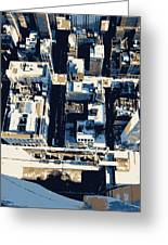 Looking Down Color 6 Greeting Card by Scott Kelley