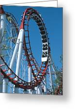 Loop Section Of A Rollercoaster Ride Greeting Card by Kaj R. Svensson