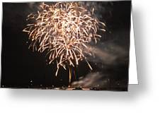 Lopez Island Fireworks 2 Greeting Card by David Salter