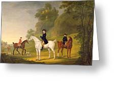 Lord Bulkeley and his Harriers Greeting Card by Francis Sartorius