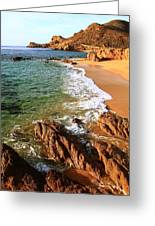 Los Cabos Coastal Landscape Greeting Card by Roupen  Baker