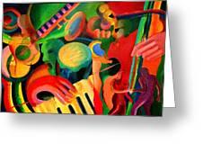 Los Hieros - The Irons Greeting Card by John Crespo Estrella