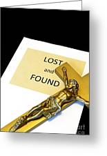 Lost And Found Greeting Card by John Van Decker