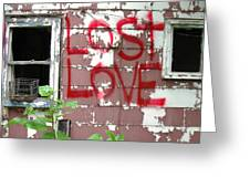Lost Love Greeting Card by TODD SHERLOCK