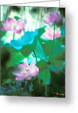 Lotus--ethereal Impressions II 20a1 Greeting Card by Gerry Gantt