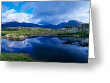 Lough Derryclare, Connemara, Co Galway Greeting Card by The Irish Image Collection