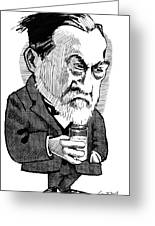 Louis Pasteur, Caricature Greeting Card by Gary Brown