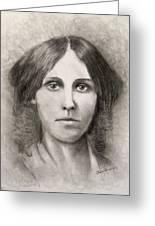 Louisa May Alcott Greeting Card by Jack Skinner