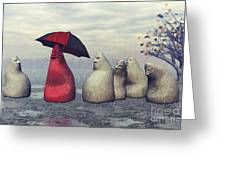 Lousy Weather Greeting Card by Jutta Maria Pusl