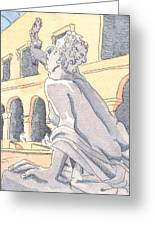 Louvre Sculpture Hall Greeting Card by E Gibbons