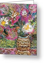 Love And A Daisy On The Side Greeting Card by Anne-Elizabeth Whiteway