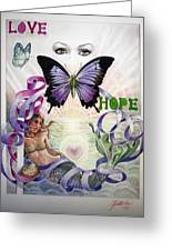 Love And Hope Greeting Card by Elizabeth Shafer