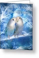Love At Christmas Card Greeting Card by Carol Cavalaris