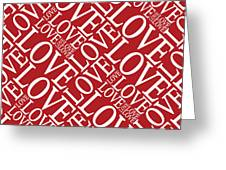 Love In Red Greeting Card by Michael Tompsett