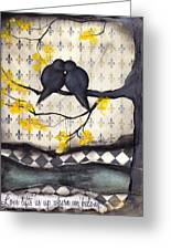 Love Lifts Us Up Where We Belong Greeting Card by  Abril Andrade Griffith