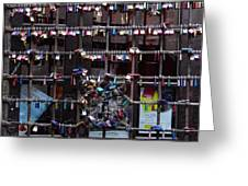Love Locks At Juliet's House Greeting Card by Keith Stokes