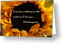 Love Nothing As I Do You Greeting Card by Patricia Januszkiewicz