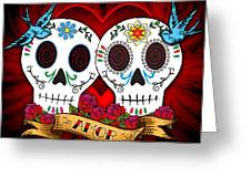 Love Skulls Greeting Card by Tammy Wetzel