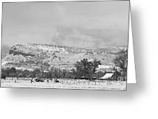 Low Winter Storm Clouds Colorado Rocky Mountain Foothills 7 Bw Greeting Card by James BO  Insogna