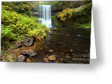 Lower South Falls Greeting Card by Adam Jewell