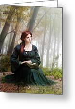 Lucid Contemplation Greeting Card by Karen K