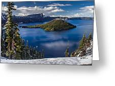 Luminous Crater Lake Greeting Card by Greg Nyquist