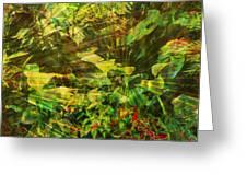 Lush Escape Greeting Card by Maria Eames