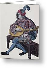 Lute Player, 1839 Greeting Card by Granger