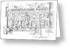 Luxembourg Garden Gate Greeting Card by Marilyn MacGregor
