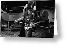 Lynyrd Skynyrd Rock Winterland Greeting Card by Ben Upham