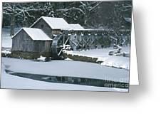 Mabry Mill Winter Greeting Card by Joe Elliott