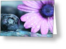 Macro Shot Of A Blueberry Greeting Card by Sandra Cunningham