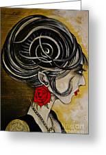 Madame D. Eternal's Dance Greeting Card by Sandro Ramani