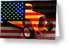 Made In The Usa . 1932 Ford 5 Window Coupe Greeting Card by Wingsdomain Art and Photography
