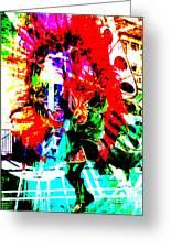 Madi Gras Greeting Card by Brian Roscorla