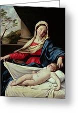 Madonna And Child  Greeting Card by II Sassoferrato