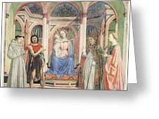 Madonna And Child With Saints Greeting Card by Domenico Veneziano