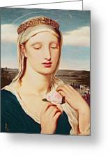 Madonna Greeting Card by Simeon Solomon