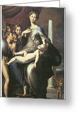 Madonna With The Long Neck Greeting Card by Parmigianino