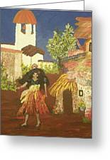 Magdalena Mujar De Los Gitanas Greeting Card by Peri Craig