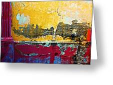 Magenta Pillar By Michael Fitzpatrick Greeting Card by Olden Mexico