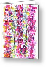 Magenta Rhapsody Greeting Card by Regina Valluzzi