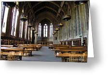 Magic Library Greeting Card by Silvie Kendall