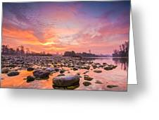 Magical Morning Greeting Card by Davorin Mance